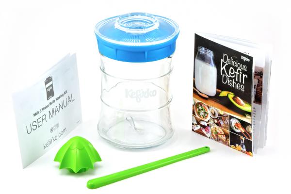 Kefirko Glassystem - Kefir, Wasserkefir und Ginger Root Kefir einfach und problemlos zuhause selber machen