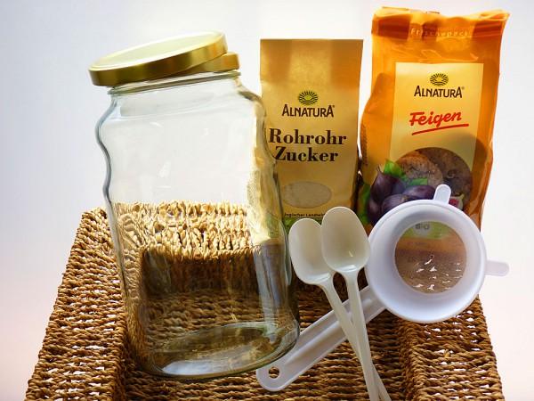 Bio Wasserkefir Drink Komplettpaket mit 2,5 Liter Glas