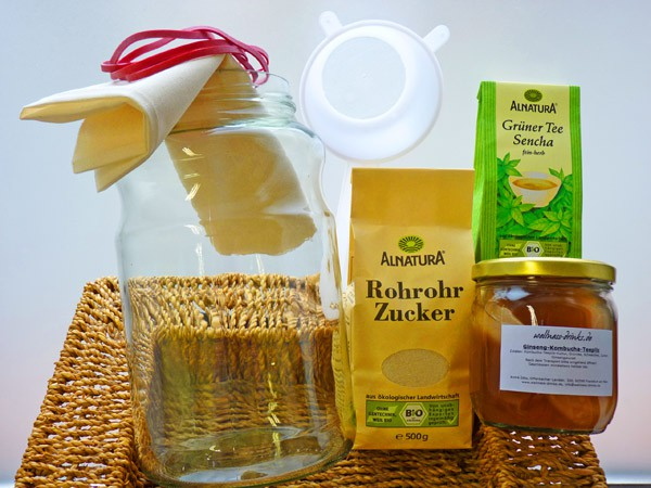 Buy Kombucha Starter Set with Jar and Accessory